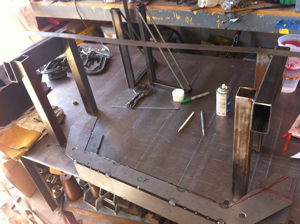 Mockup frame on the bench