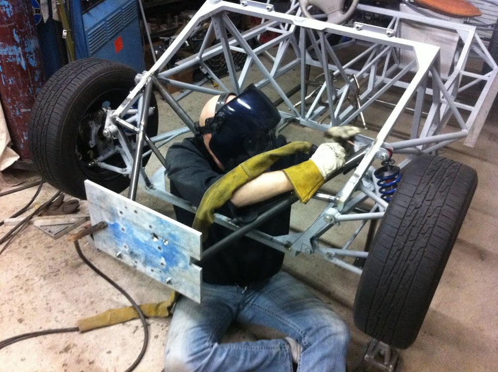 Tube chassis welding nearly complete