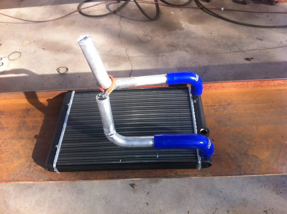 We also fabricated aluminum water pipes for the car