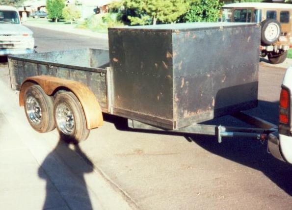 Tile contractor trailer
