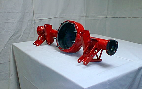 Custom motorcycle, 9 inch rear axle housing
