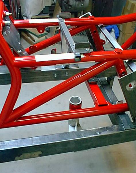 V8 trike frame jig detail