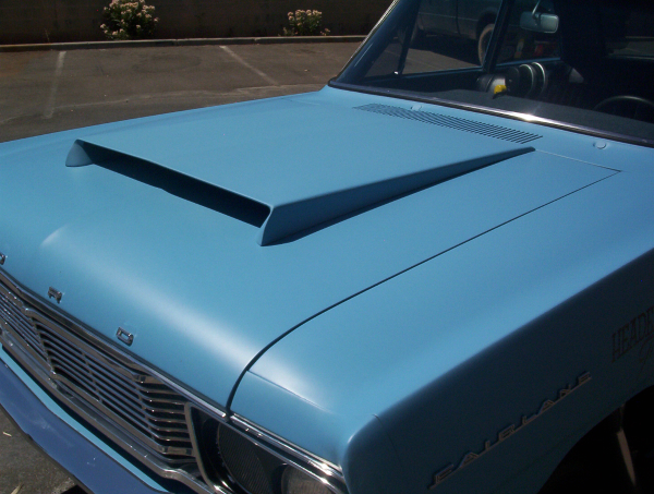 Custom Fairlane aluminum hood scoop