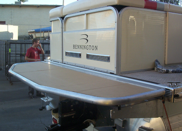 Prototype Pontoon Boat Swim Deck