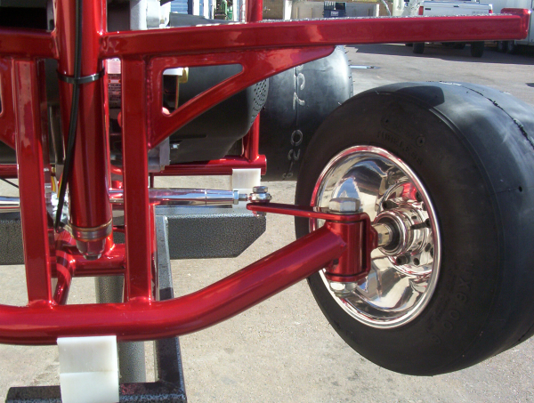 Racing bar stool front axel