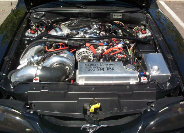Vortex supercharged Saleen Mustang Engine Bay