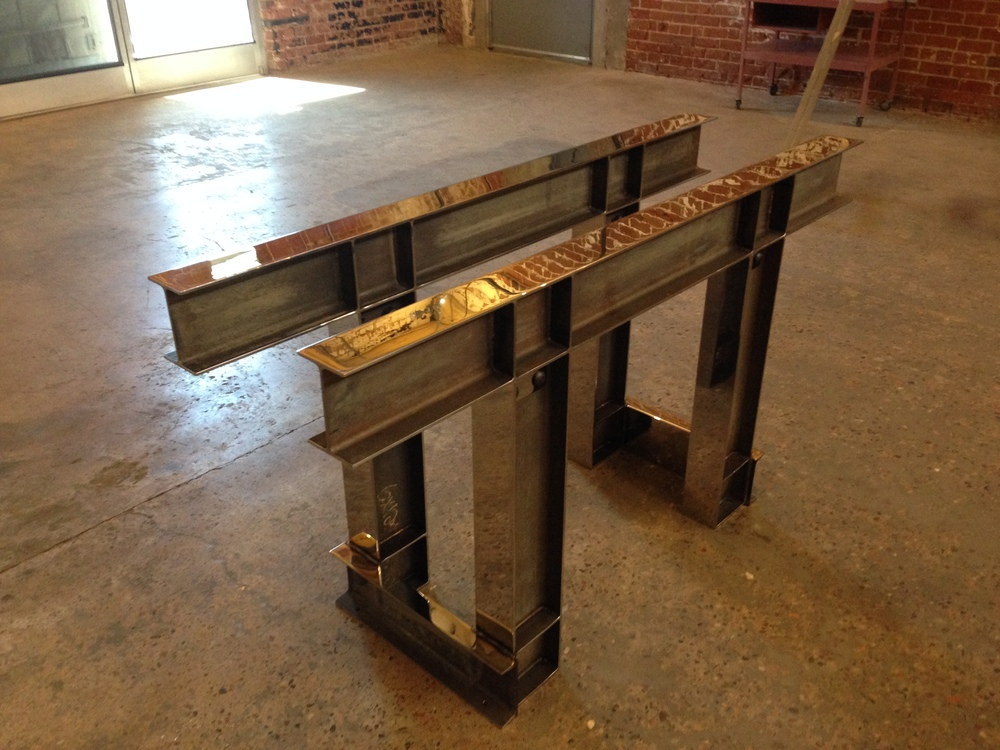 Pickeled and Polished I beam table.JPG