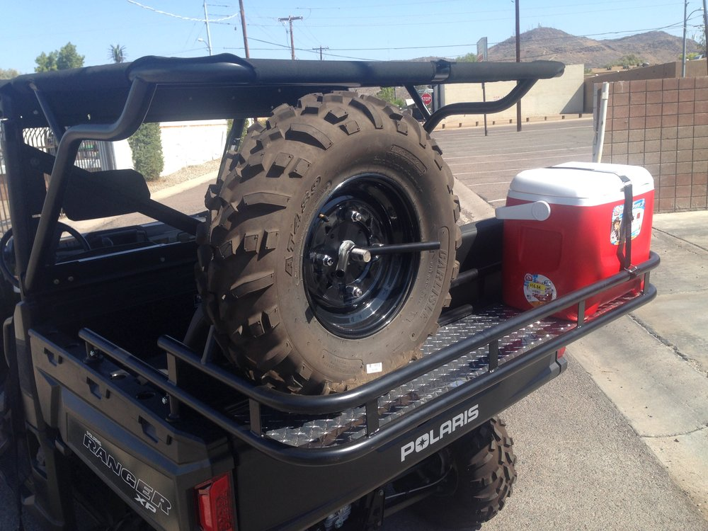 XP900 Ranger Rear Cage, Cooler Rack, Seat kit, and spare tire carrier
