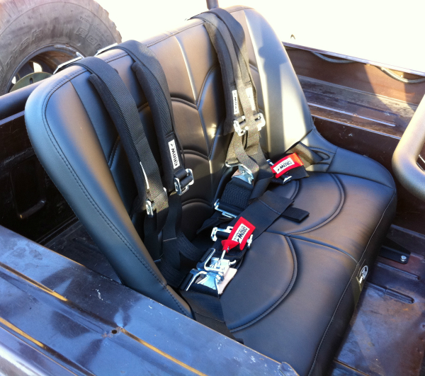 CJ7 custom rear suspension seat
