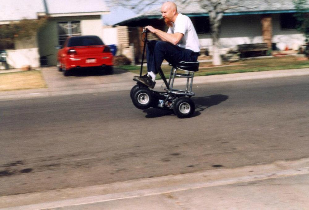 Wheelie practice