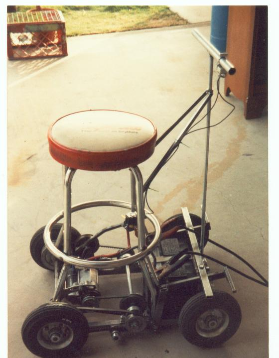 Twin motor electric barstool racer