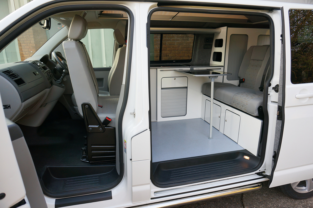 interior with rib bed