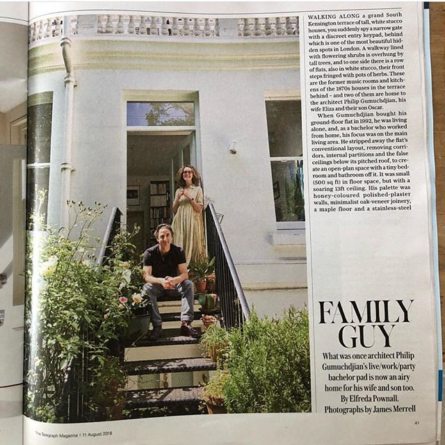 My talented brother Philip and @feltlondon featured in today's @telegraph fab!!! @gumuchdjianarchitects #gumuchdjianarchitects