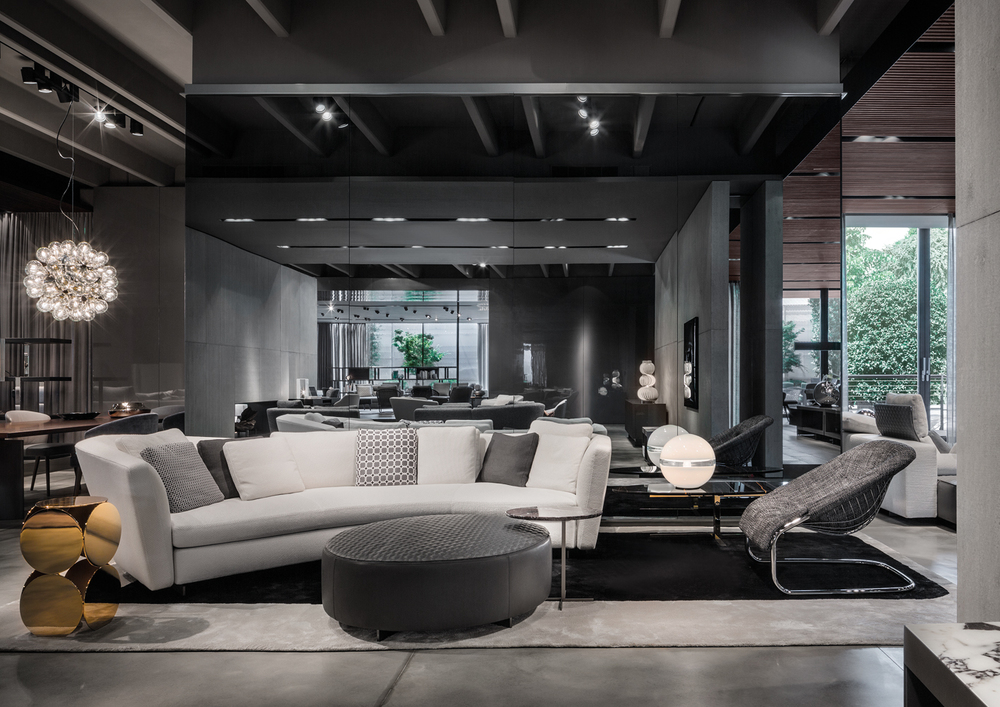 Minotti company showroom presentation of the 2015 for Modern furniture companies