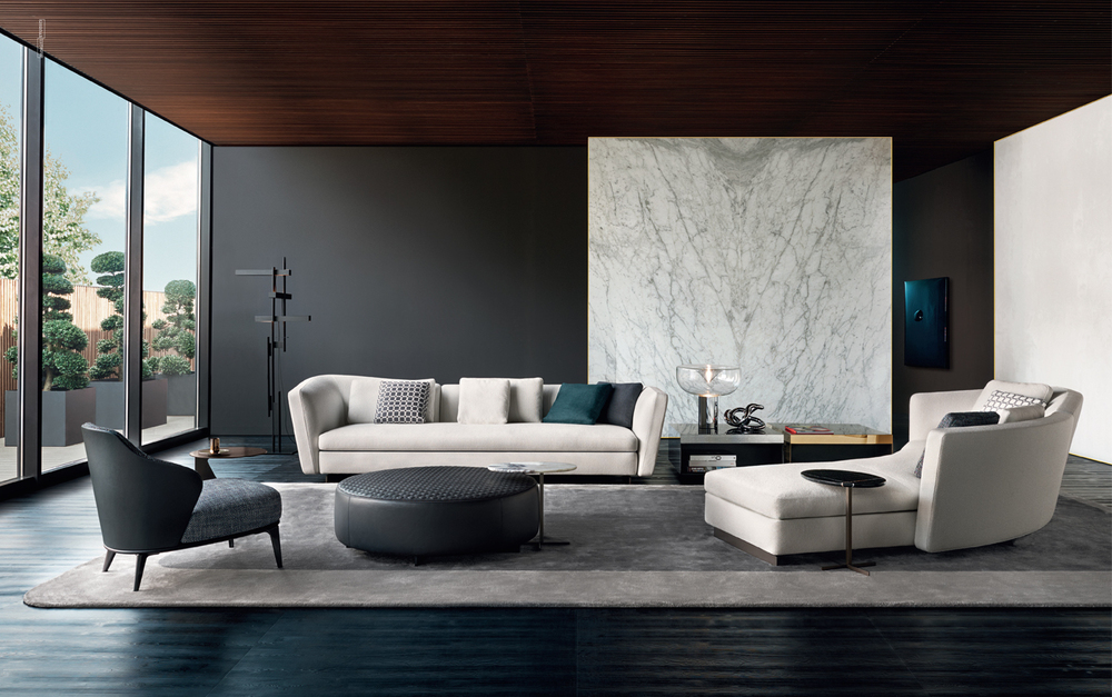 Minotti turns an installation celebrates italian creativity