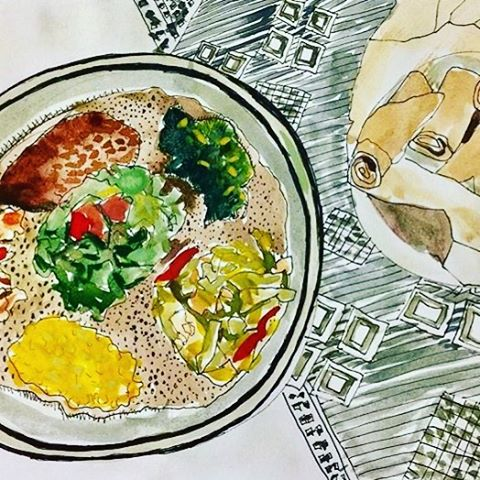 Because food is art. 🎨 #ethiopianfood #ethiopiancuisine #foodie #foodisart #ethiopian #ethiopia #africanfood #hornofafrica