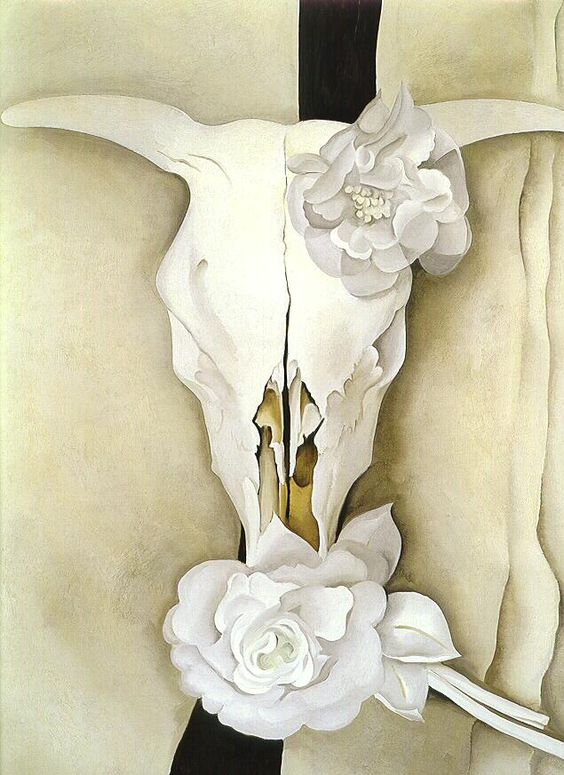 "Feel free to study the same image if you would like.  Or any Georgia o""Keeffe piece you are inspired by."