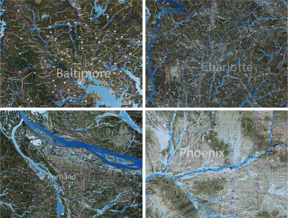 US FLOOD HAZARD EXAMPLES