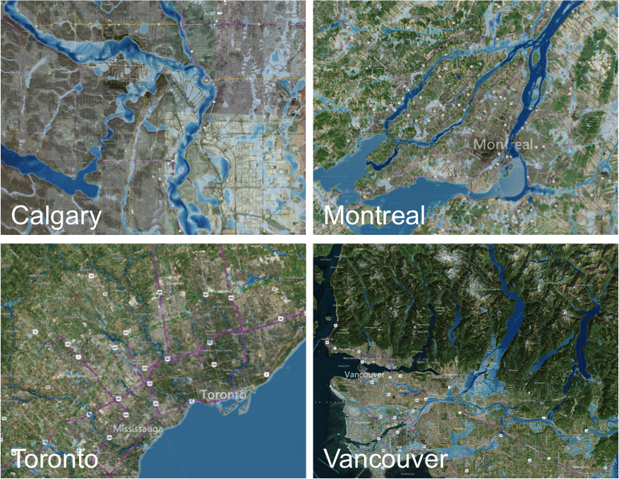 CANADA FLOOD HAZARD EXAMPLES
