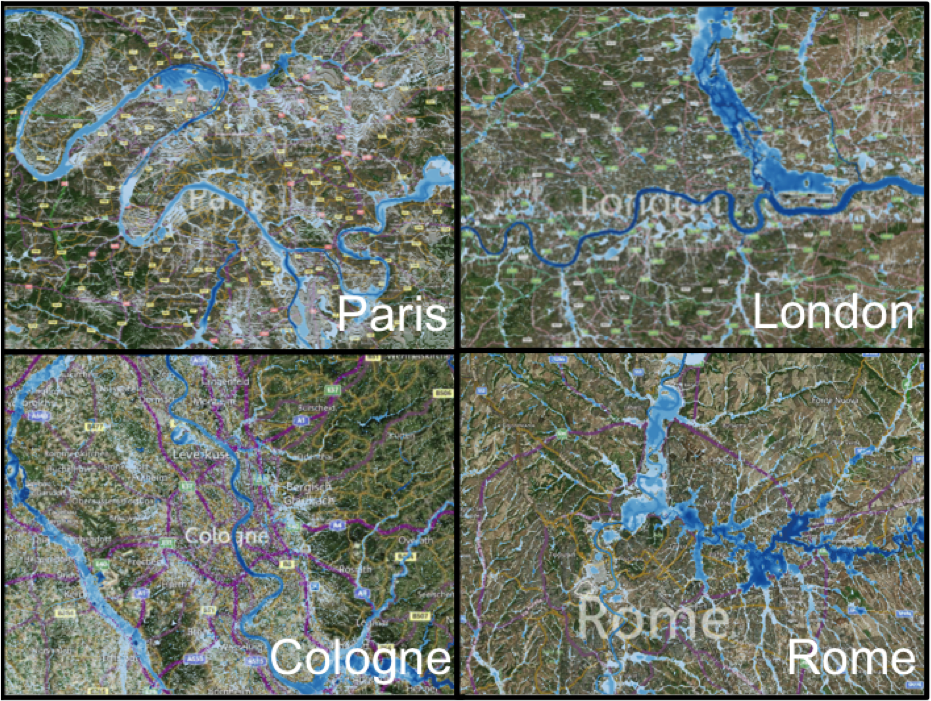 EUROPE FLOOD HAZARD EXAMPLES