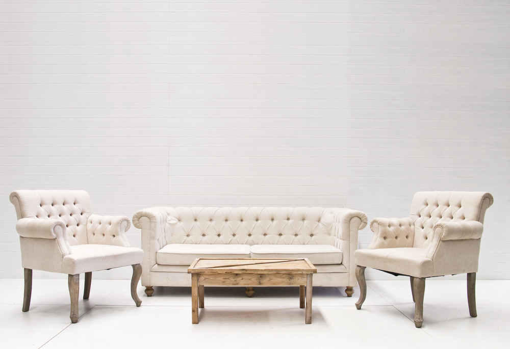 French Tufted Sofa Package