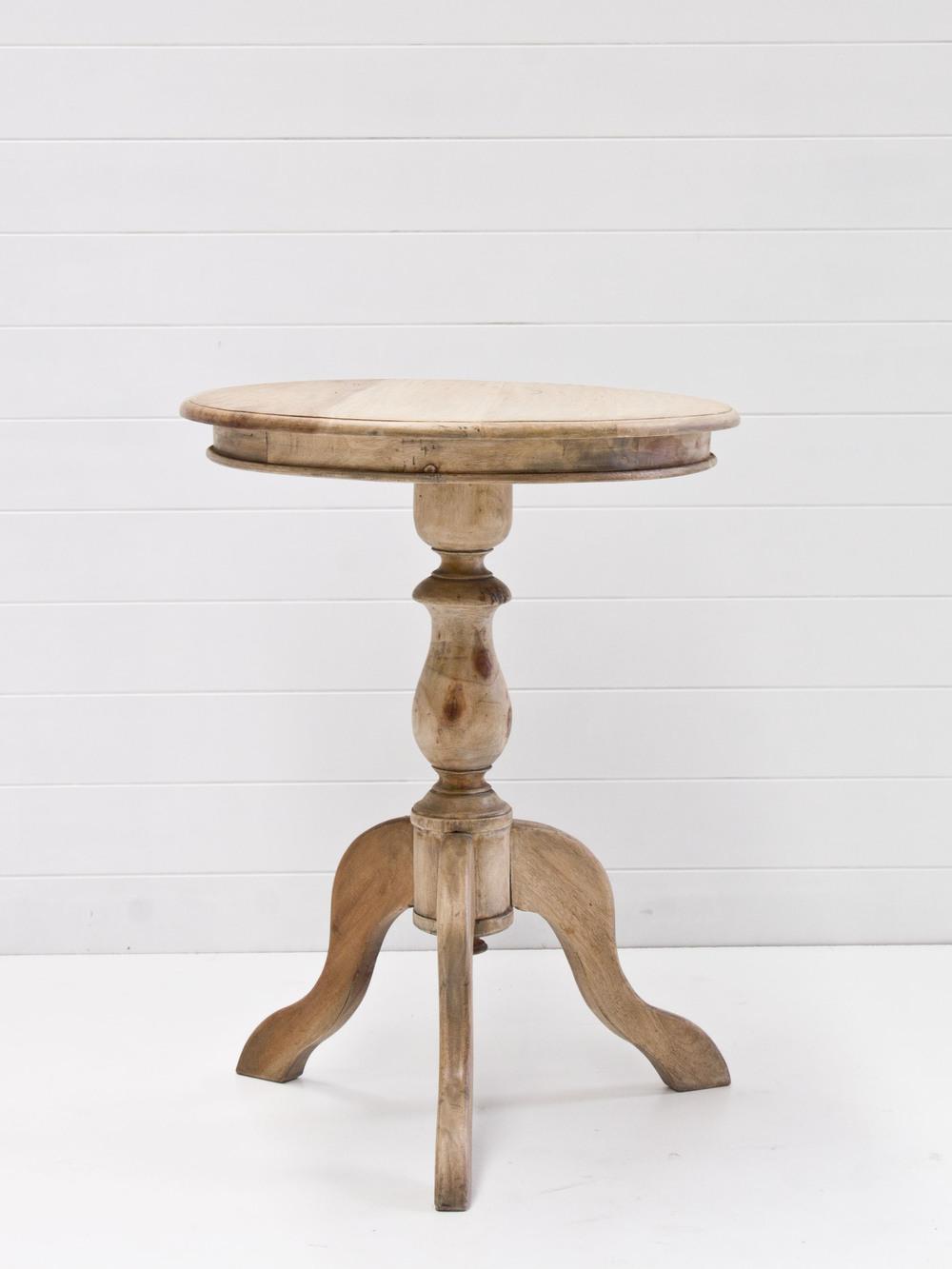 Round pedistal oak signing table.jpg