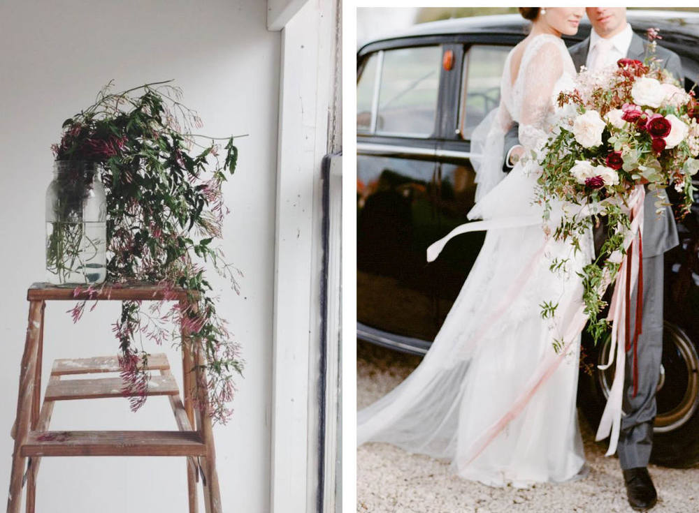 Left:  Marble and Milkweed  Right: Photography  Sylvie Gil Photography  Found via  Style Me Pretty