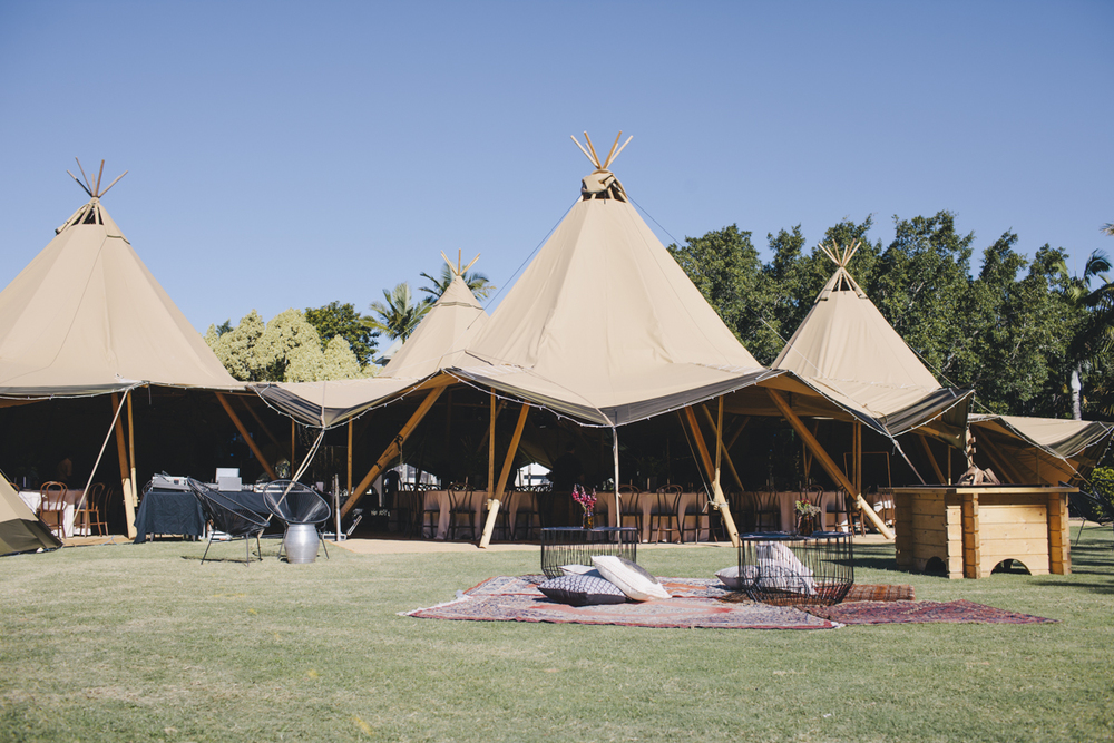 Corporate event styling Sunshine Coast Tipis