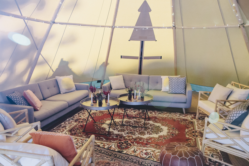 corporate event styling bohemian tipi sunshine coast