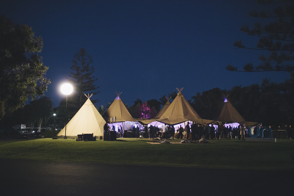 corporate event styling tipis sunshine coast