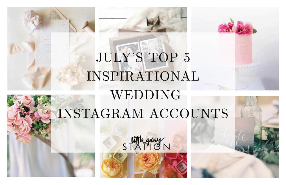 top wedding instagram accounts