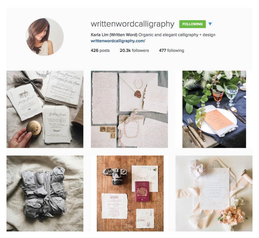 written word calligraphy inspirational wedding instagram