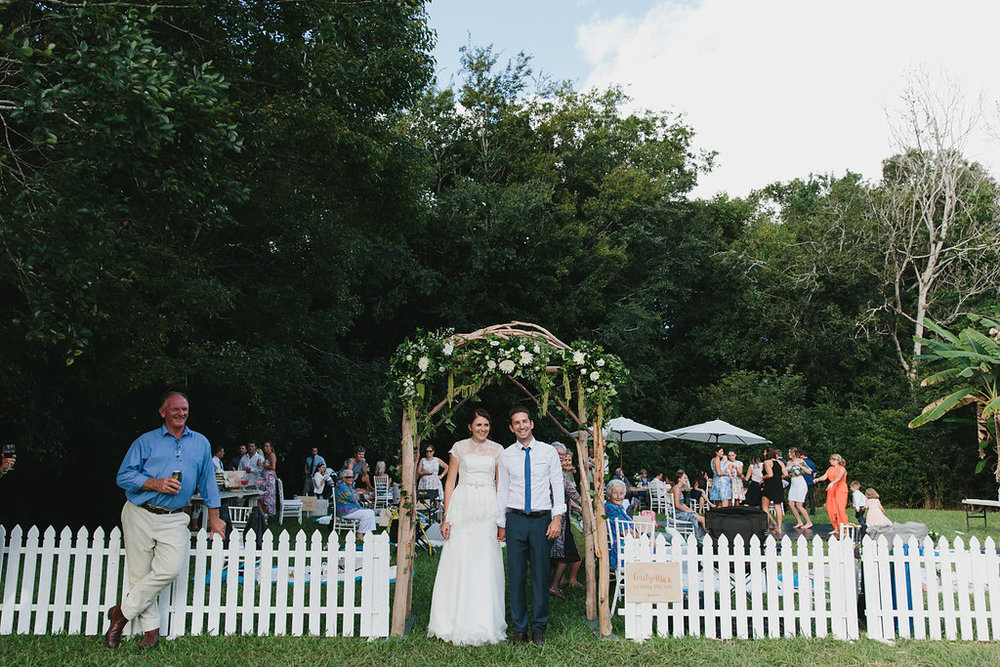 real wedding emily and max styled by little gray station sunshine coast