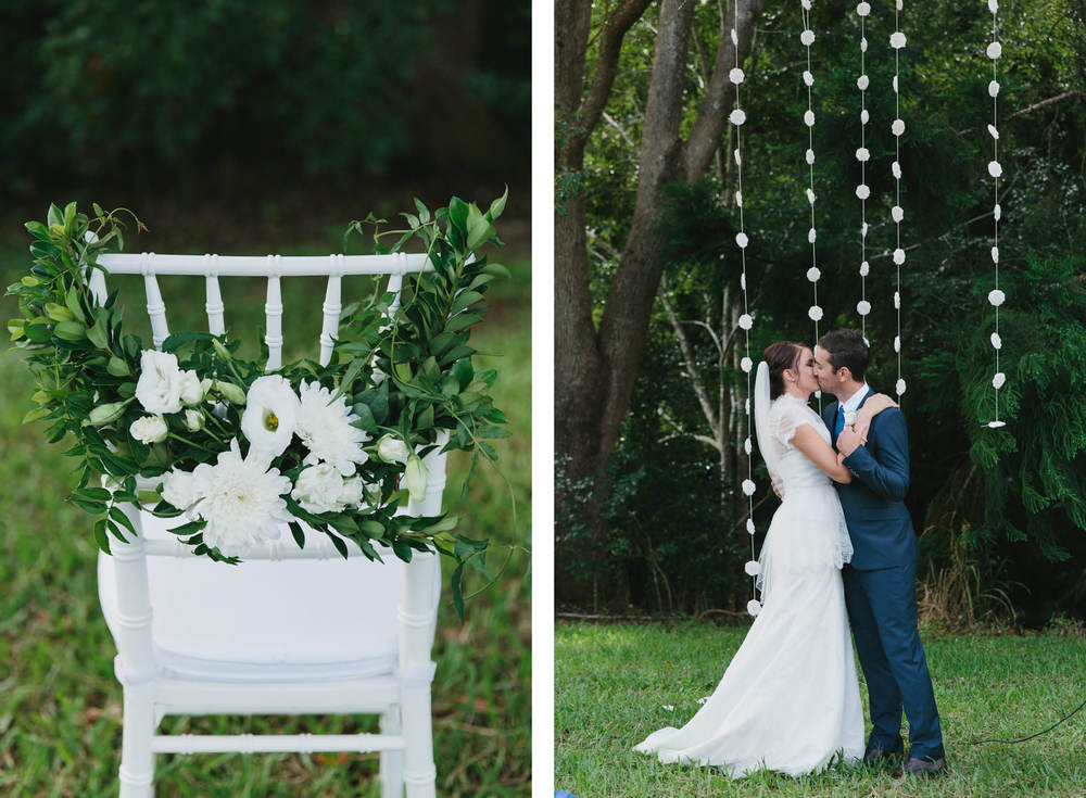 real wedding sunshine coast ceremony styled by little gray station