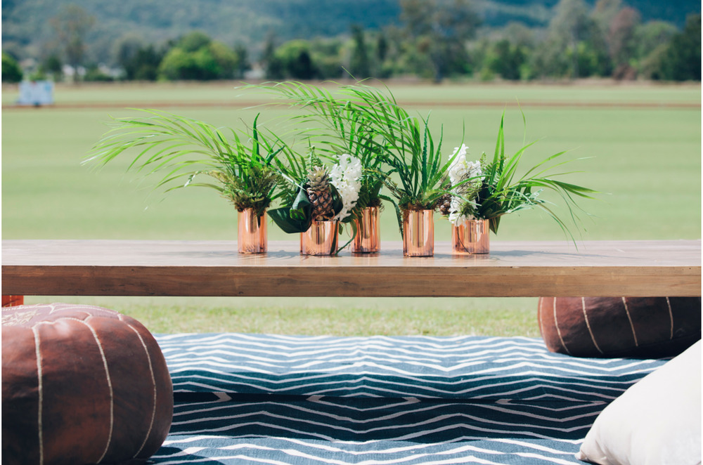 corporate event styling polo los loosa gold coast hinterlands