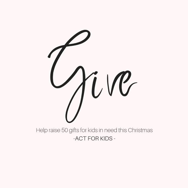 "Last week I set a goal to align with a charity and raise ""gifts for kids"" in need. I am lucky enough to have been approved and aligned with a beautiful charity called @actforkids 🙏🏼 Act For Kids provides support for kids who have been abused or neglected. Donating gifts to these kids at Christmas won't change there circumstance, their memories, their trauma but at the very least their heart may shine at the toy they are receiving this Christmas that would not be possible without you. My aim is to raise a minimum of 50 gifts, which will be donated on the 17 December and distributed to kids in need. Guys if you would like to donate a gift, please send to Judi Watts c/o: Hampton Event Hire, 16/23 Enterprise Avenue, Tweed Heads South, NSW 2486. Together we will make a difference!"