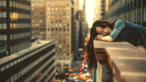 Sleeping in street
