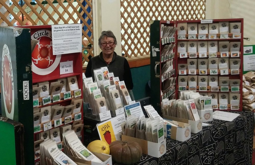 Mary Alice at Salt Spring's Seedy Saturday