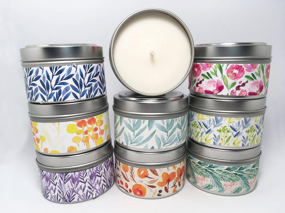 SOY CANDLES  — Any of our candles can be mixed and matched for the special 3 candle discount price!  $10/each or 3 for $25