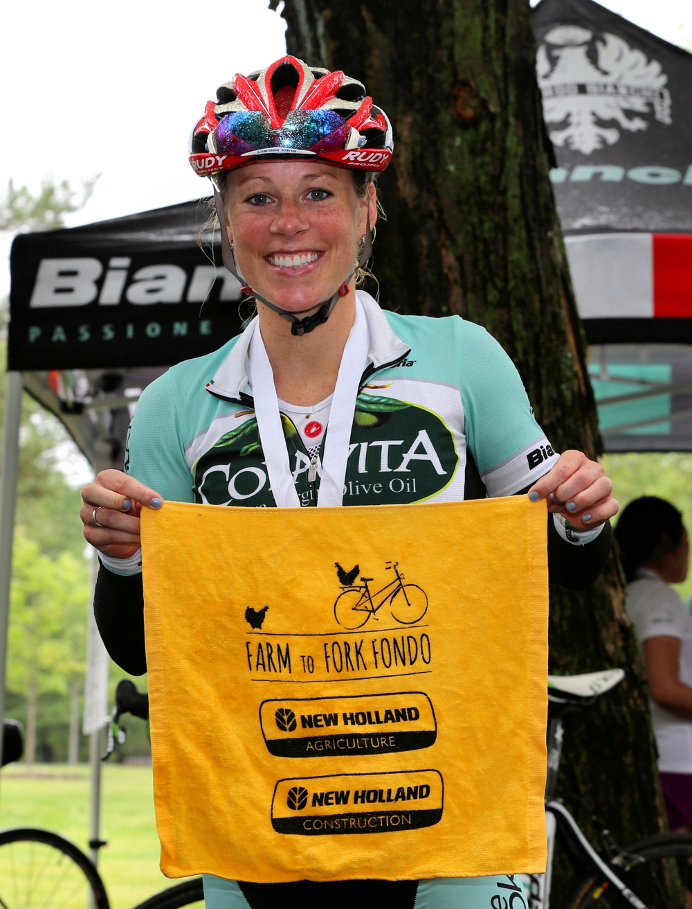 Team director Mary Zider at the 2015 Farm to Fork Fondo - Hudson Valley. Photo credit Scott Kingsley.