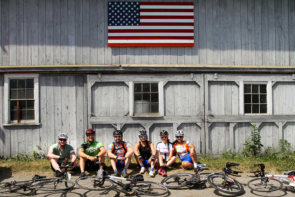 Farm to Fork Fondo – Hudson Valley cyclists at Pierson Hill Farm