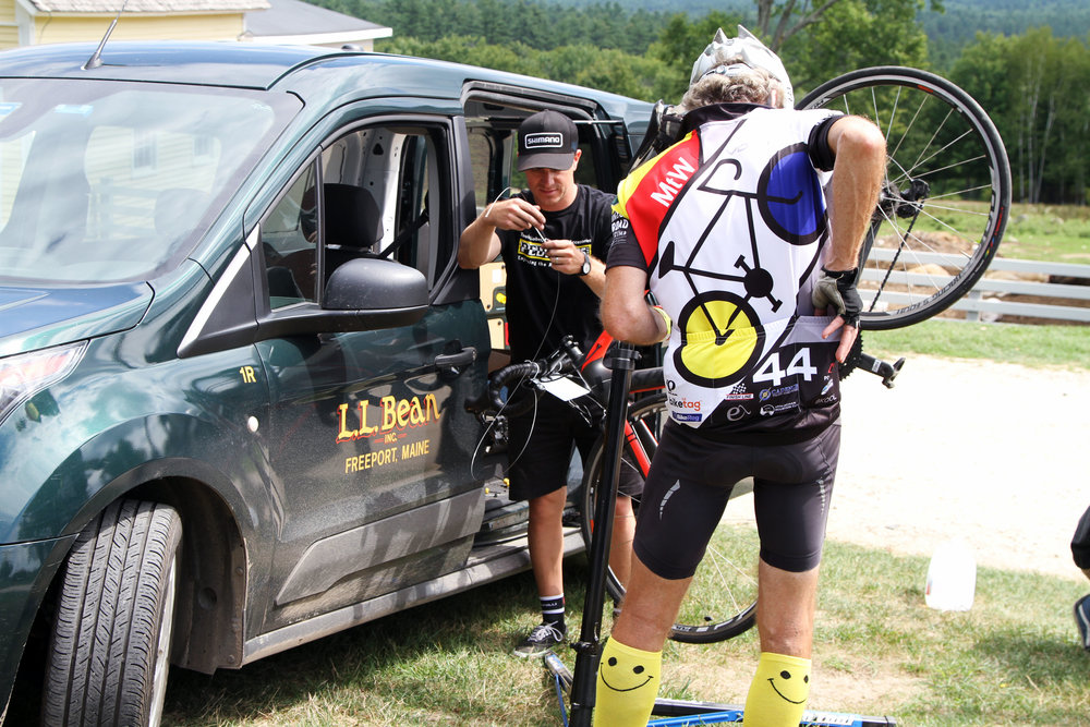 Professional mechanics from L.L. Bean will be on course at Farm to Fork Fondo - Maine