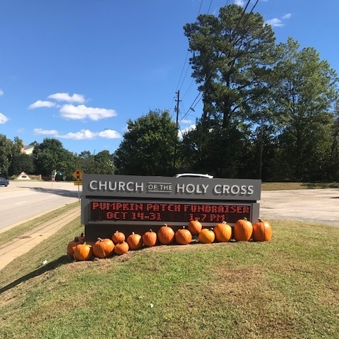 2018 pumpkin sale - electronic sign
