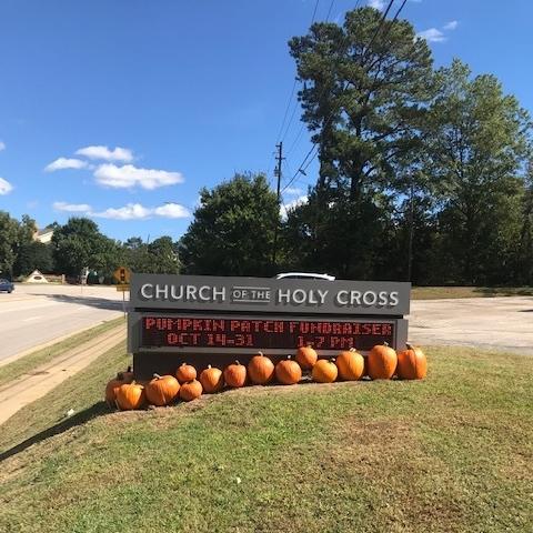 2018 pumpkin sale - electronic sign