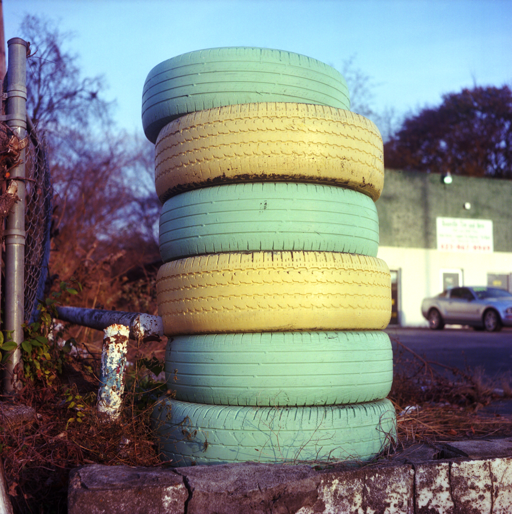 Tire Stack, Yellow Green II.jpg