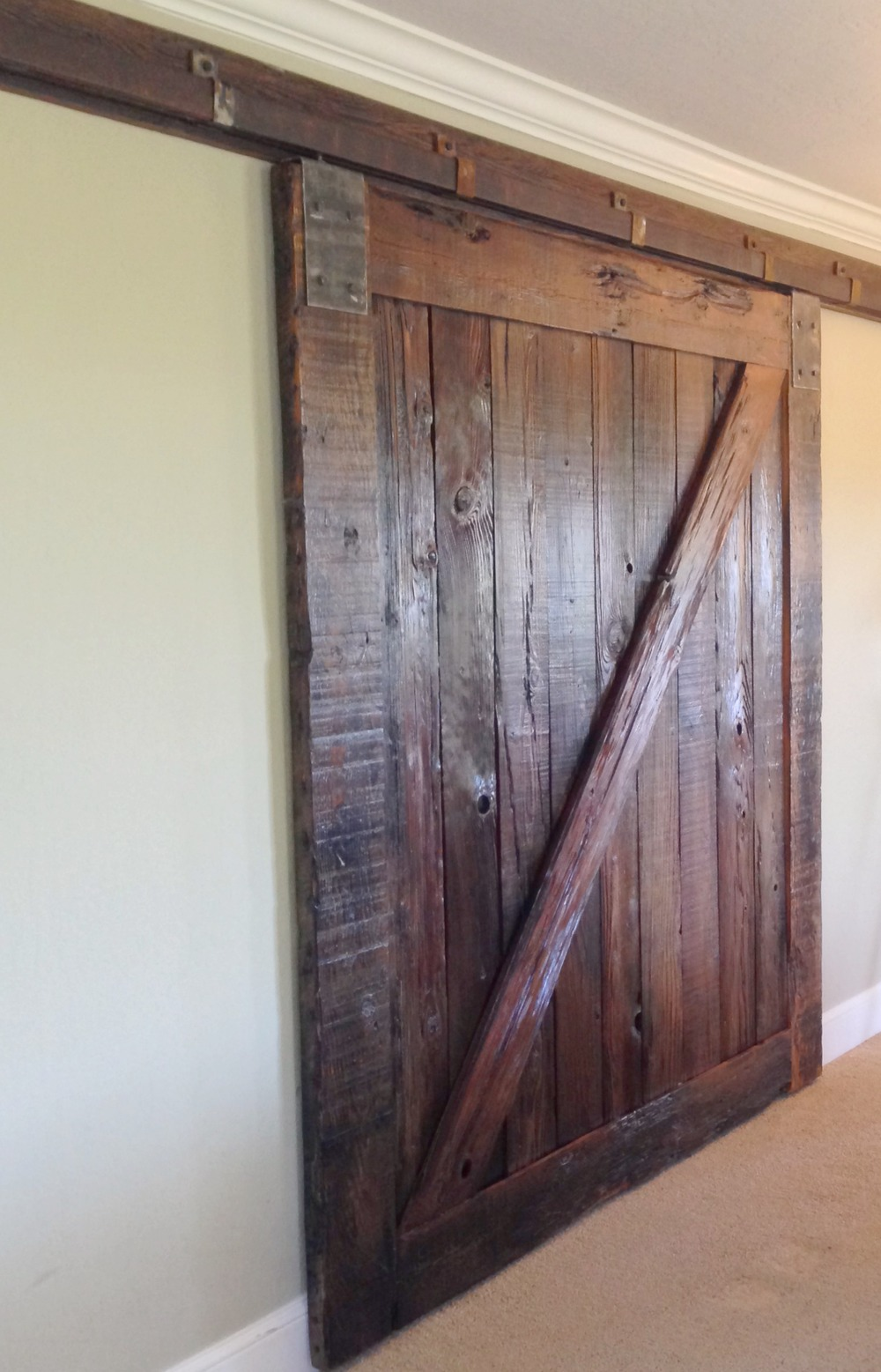 Mega Darling Sliding Barn Door - made for a restaurant