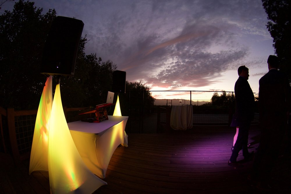 Sunset Wedding Lighting