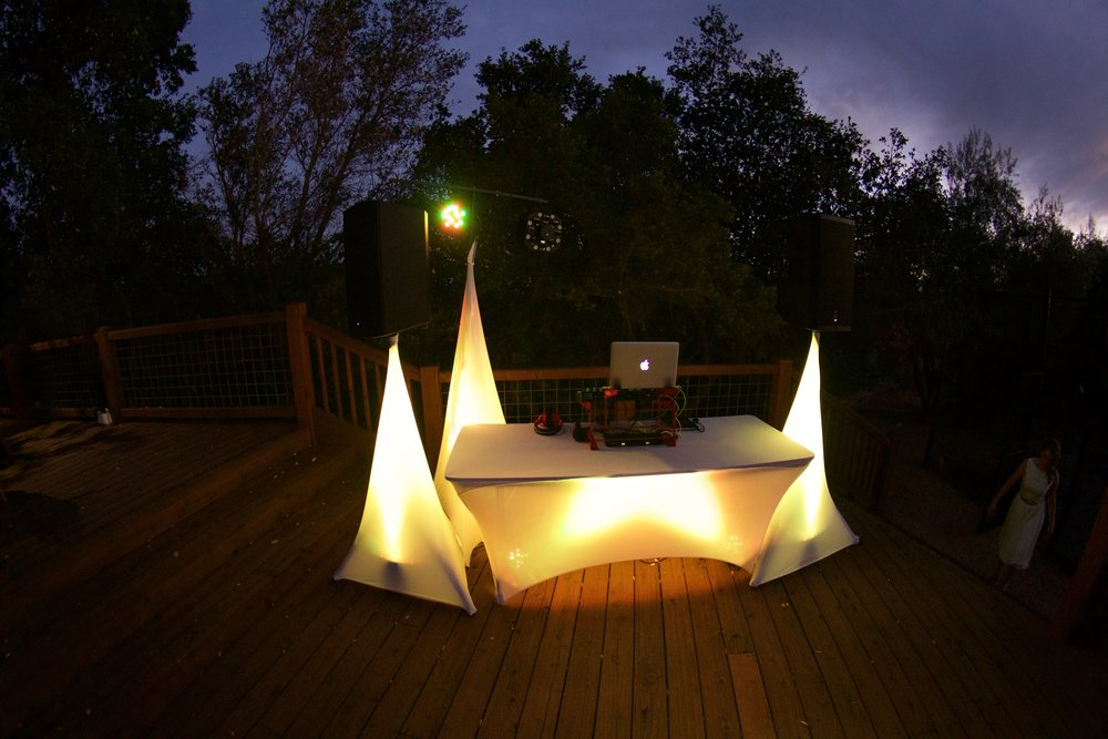 Sonoma County Wedding DJ Lighting