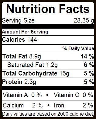 28.35g = 1/4 cup acorn flour