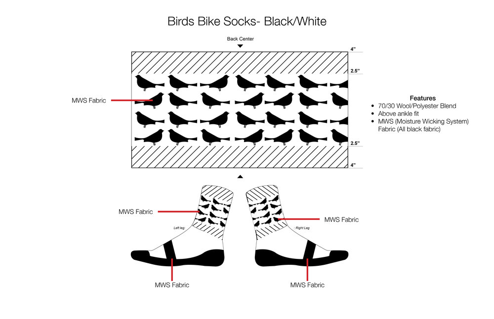 Bird Bike Socks